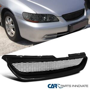 For 98 02 Honda Accord 2dr Coupe Black Abs Front Mesh Style Hood Grill Grille