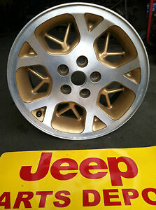 96 97 98 Jeep Grand Cherokee Limited 16 Alloy Gold Wheel Y Spoke Stock Oem