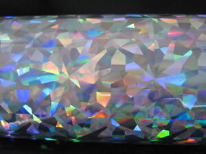 Hot Stamping Holographic Foils Silver Crystals 24 In X 500 Ft Propiusa