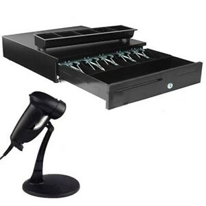Cash Drawer Works With Epson Pos Printers usb Handheld Laser Barcode Scanner