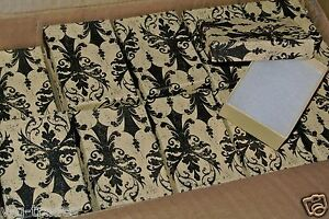 Lot Of 100 Damask Print Cotton Filled Jewelry Gift Boxes 3 1 16 X 2 1 8 X 1 Box