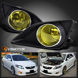 For 2009 2010 Toyota Corolla Jdm Yellow Bumper Driving Fog Lights Switch