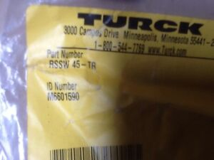Turck Rssw 45 tr Terminal Resistor Sensor Connector 4 pin Female lot Of 5