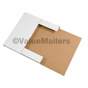 100 14 1 8 X 8 5 8 X 1 White Multi Depth Bookfold Mailer Book Box Bookfolds