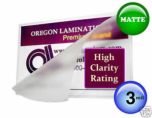 Hot 3 Mil Matte Letter Laminating Pouches 9 X 11 5 25 By Oregon Laminations