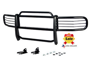 Fits 2006 2011 Hummer H3 Brush Grill Grille Guard In Black Brush Bumper