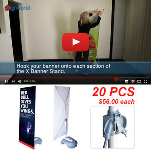 Outdoor Adjustable X Banner Stand W Water Base Trade Show Display Banner 20 Pcs