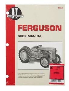 Shop Manual Massey Ferguson Mf95 Te20 To20 To30 Tractor