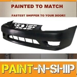 Fits 2001 2002 toyota Corolla Front Bumper Painted To Match to1000217