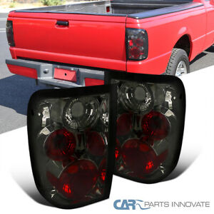 Fit 01 05 Ford Ranger Pickup Smoke Tinted Tail Lights Brake Lamps Replacement