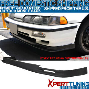 Fits 90 91 Acura Integra Mugen Style Front Bumper Lip Pu