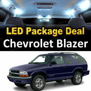 For 2000 2005 Chevrolet Blazer Led Lights Interior Package Kit White 13pcs