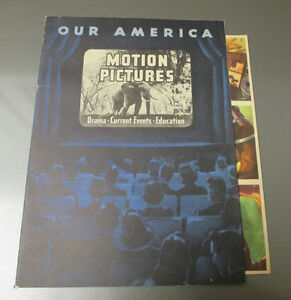 1943 Coca-Cola OUR AMERICA Motion Pictures 20 STAMP Paste-In Book VG+