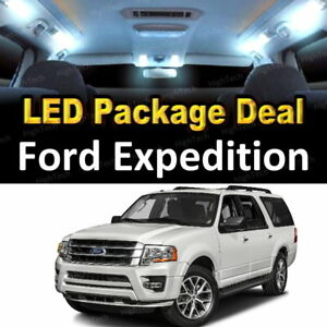 For 2003 2005 2006 Ford Expedition Led Lights Interior Package Kit White 10pcs