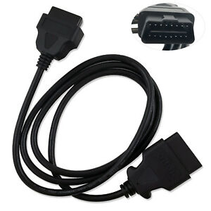 New Obd Ii Obd2 Auto Car Male To Female Extension Cable Diagnostic Extender