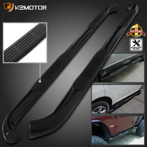 For 05 18 Toyota Tacoma 3 Double Cab Black S S Side Step Nerf Bar Running Board