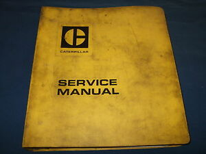 Caterpillar 824 825 834 835 Tractor Compactor Service Shop Repair Book Manual