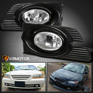 For 2001 2002 Honda Accord 4dr Clear Fog Lights Switch Kit