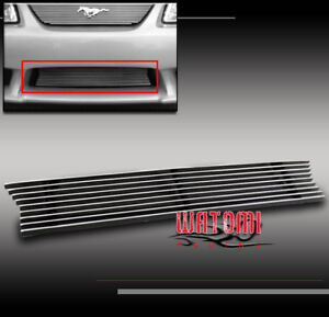 99 04 Ford Mustang Saleen Front Bumper Lower Billet Grille Grill Insert 01 02 03