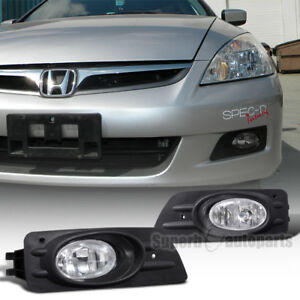 For 2006 2007 Honda Accord 4d Sedan Driving Fog Lights Bumper Lamps Switch Clear
