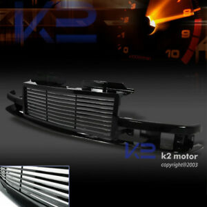 98 04 Chevy S10 Blazer Black Front Bumper Hood Grill 1pc Grille