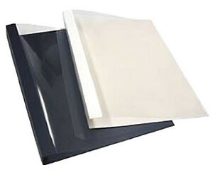 Thermal Binding Covers Navy Embossed Front Back V fold Spine