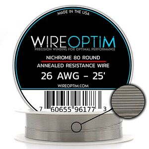 26 Gauge Awg Nichrome 80 Wire 25 Length N80 Wire 26g Ga 0 40 Mm 25 Ft