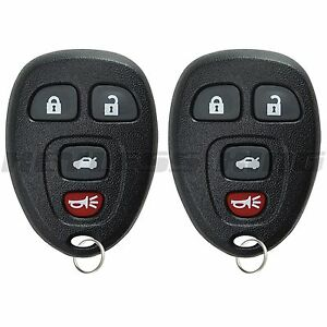 2 New Replacement Keyless Entry Remote Key Fob Clicker Transmitter For 15252034