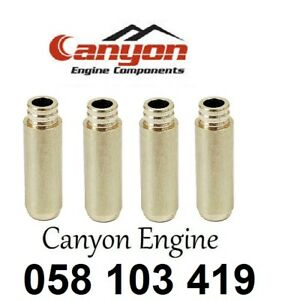 Audi Volkswagen Valve Guide Guides 4 Pieces Oe Canyon