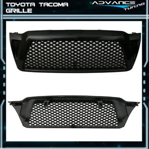 Fits 05 11 Toyota Tacoma Black Mesh Front Hood Grill Grille Brand New
