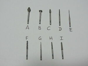 Wholesale Lot Of 25 Premier Two Striper Dental Assorted Diamond Burs Brand New