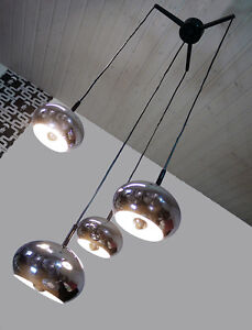 Sputnik Cascade Chandelier Pendant Lamp Germany Space Age 1970s Chrome