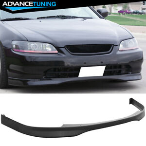 Fits 98 00 Honda Accord 2 Dr T R Style Front Bumper Lip Spoiler Pp Polypropylene