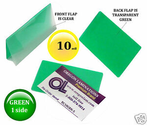 Lam it all Laminating Pouches 2 1 4 X 3 3 4 Business Card pk 500 Clear green