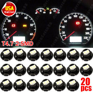 20pcs Super White T5 T4 7 Neo Wedge 12mm 12v Instrument Dashboard Led Light Bulb