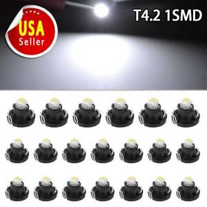 20x 6000k White T4 T4 2 Wedge Led Instrument Panel Dashboard Interior Light Bulb