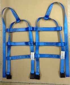 Demco Car Basket Straps Tow Dolly Wheel Net Set Flat Hooks Blue Usa