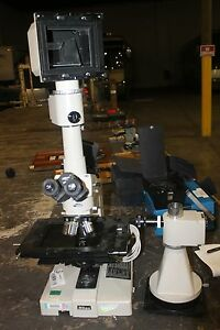 Nikon Labophot Microscope With 4 Objective Lens Bd Plan 60 20 10 5 Dic