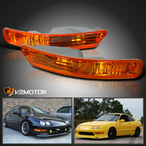 For 1998 2001 Acura Integra Amber Bumper Parking Signal Lights Lamps Left right