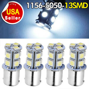 2x 3157 3156 Pure White 62smd 4014 Led Interior Backup Reverse Parking Light
