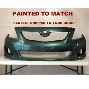Fits 2009 2010 Toyota Corolla Front Bumper Painted To Match To1000343