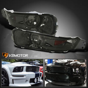 For 2005 2009 Ford Mustang Gt Bumper Signal Parking Lights Smoke Lens Left Right