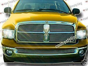 For 02 03 04 05 Dodge Ram 1500 2500 3500 Billet Grilles Combo Grill Inserts