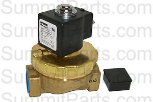 3 4 Inch Parker Brass Water Valve 110v For Unimac Washers F381700 F8322904p