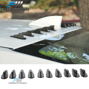 10pcs Universal V Style Generator Roof Shark Fins Spoiler Wing Kit Set