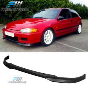 For 92 95 Honda Civic Eg 2 3dr T r Front Bumper Lip Spoier Pp Hatchback Coupe