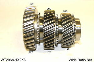 Ford Toploader 4 Speed Wide Ratio 1st 2nd 3rd Gear Set Wt296a 1x2x3