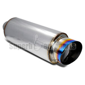 4 Titanium Performance Stainless Exhaust Muffler Burn Tip