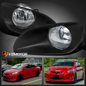 For 2006 2008 Toyota Yaris 4dr Clear Fog Lights Switch Kit