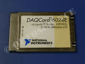 National Instruments Daqcard 6024e Ni Daq Card Pcmcia Analog Input Multifunction